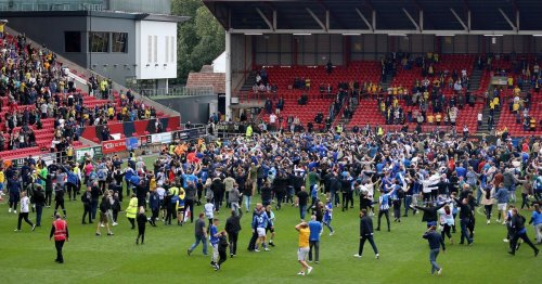 Pictures: Hartlepool team and fans celebrate after play-off victory