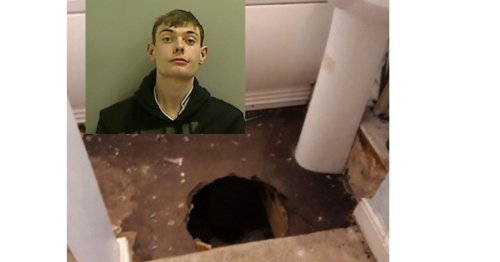 Pervert who scuttled into secret hidey-hole in floor boards is jailed