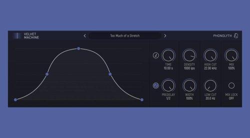 Phonolyth Velvet Machine: infinite reverbs and velvety sounds now on Windows and Mac