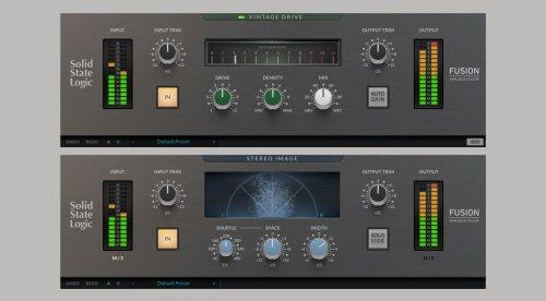 SSL Fusion Plug-ins: Fusion Vintage Drive und Fusion Stereo Image