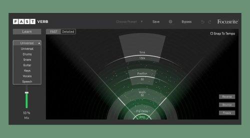 Focusrite FAST Verb: Reverb mit Visualisierung und künstlicher Intelligenz