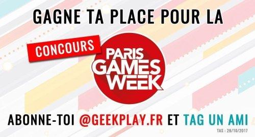 Concours Paris Games Week 2017 : 3 places à gagner