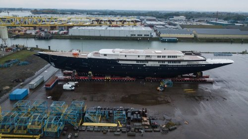 See worthy: First look at Jeff Bezos' reported $500M superyacht at Netherlands shipyard