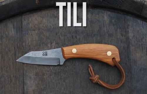 TILI minimalist fixed-blade pocket knife