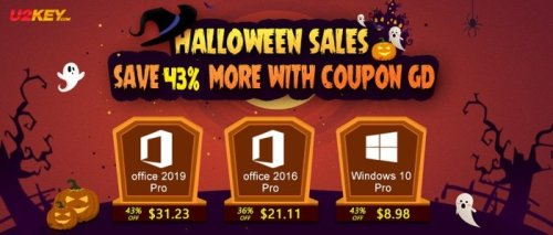 Halloween Sales: Windows 10 Pro with $8.98 and Office 2016 Pro with $21.11 - Geeky Gadgets
