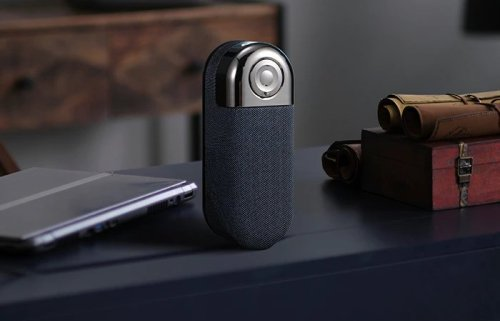 Compact portable NFC Bluetooth 5.0 speaker with magnetic mount