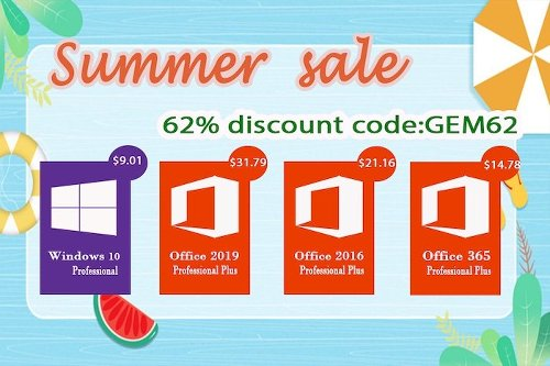 Summer Sales: Windows 10 pro key @$9.01, and Office 2019 Pro @ $31.79 - Geeky Gadgets