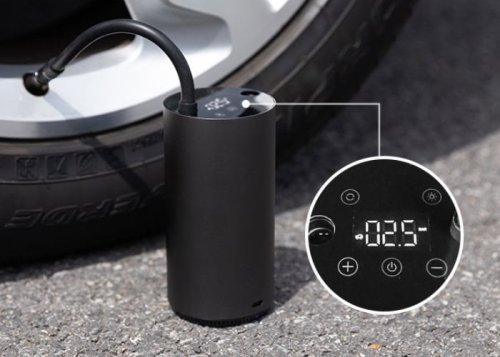 MOJIETU smart 150psi 10.3bar portable tire inflator - Geeky Gadgets
