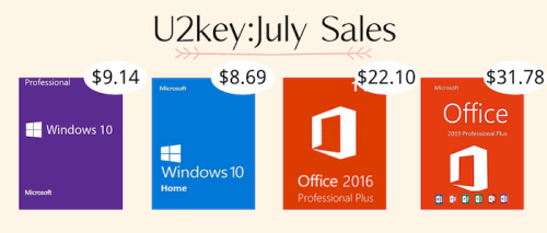July Sales: Windows 10 Pro with $9.14 and Office 2016 Pro with $22.10 - Geeky Gadgets