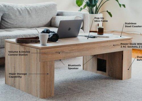 Coolest smart coffee table hits Kickstarter - Geeky Gadgets