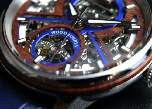WoodBugria automatic watch combines wood and modern technology - Geeky Gadgets