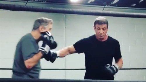 Stallone revela imagens de um treino de boxe com De Niro