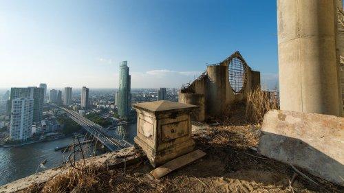 Düsterer Lost Place: Der Geisterturm von Bangkok in Bildern