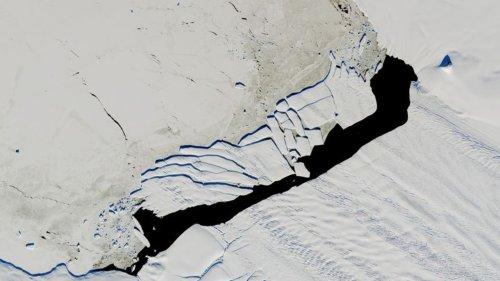 Abschmelzen des Pine-Island-Gletschers in der Antarktis lässt Meeresspiegel steigen