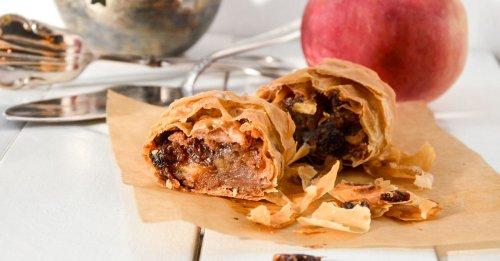 Apfelstrudel mit Marzipan, Kuchen für die Familie