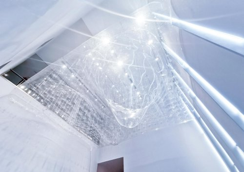 """The Floor – Installation for the exhibition of """"Vibrating Clouds"""""""