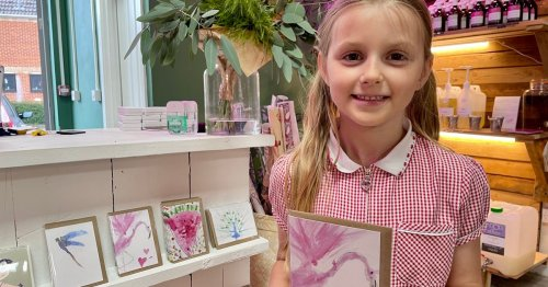 Berkshire girl, 7, creates incredible watercolour cards and some people can't believe she did them