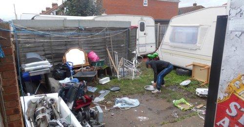 Woman turns garden into illegal scrap metal yard business