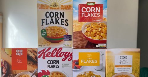 We compare Tesco, M&S, Lidl, Asda and Co-op corn flakes to Kellogg's