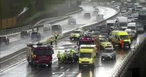 Live M23 updates as emergency services attend multi-vehicle crash