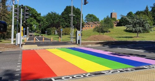 Surrey's rainbow Pride crossing labelled 'waste of money' by some