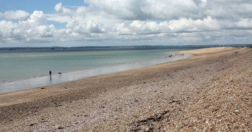 The beautiful beaches 45 minutes from Surrey on their own island