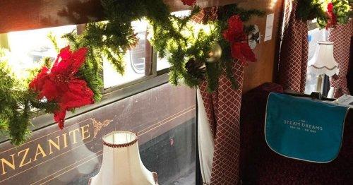 Christmas steam train rides near Surrey where children can meet Santa
