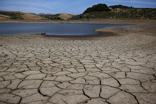 Cracked earth in Marin County
