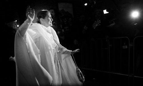 Carla Fracci partecipa all'inaugurazione del Teatro Alla Scala, il 7 dicembre 2013