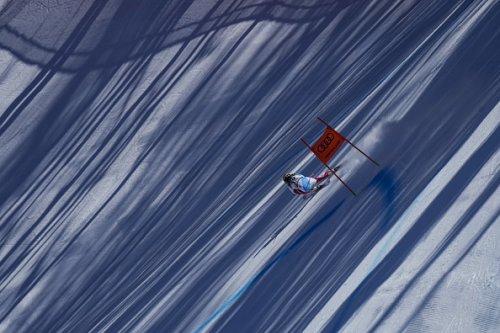 Lara Gut-Behrami si allena per i Campionati Mondiali di Sci a Cortina