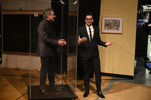 Eugene Levy with Host Dan Levy