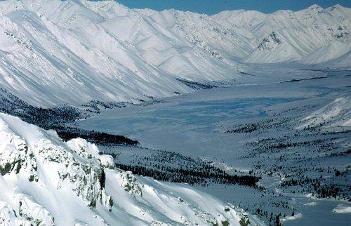 Mountainous region within ANWR