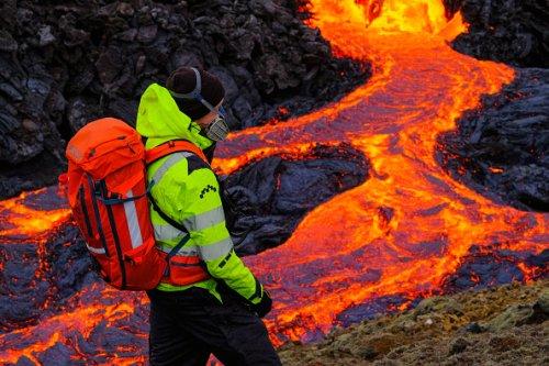 Fagradalsfjall Volcano in Reykjanes Peninsula