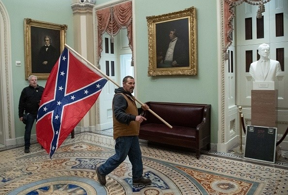 Confederate flag in the Capitol