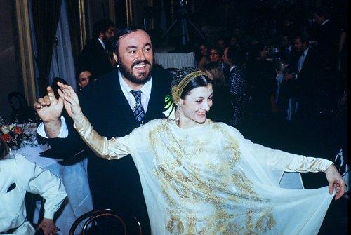 Carla Fracci e Luciano Pavarotti, 1998