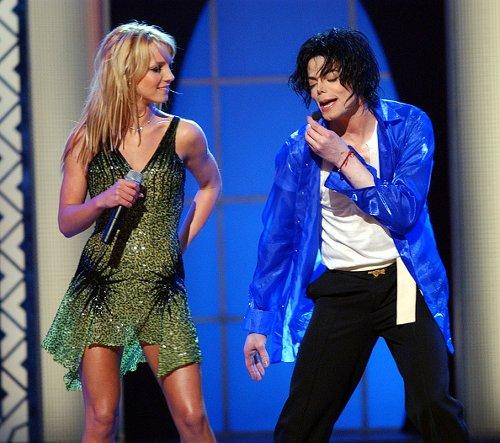 With Michael Jackson, 2001