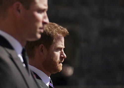 Il principe William e il principe Harry ai funerali del principe Filippo