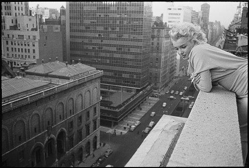 Ambassador Hotel's balcony, 1955