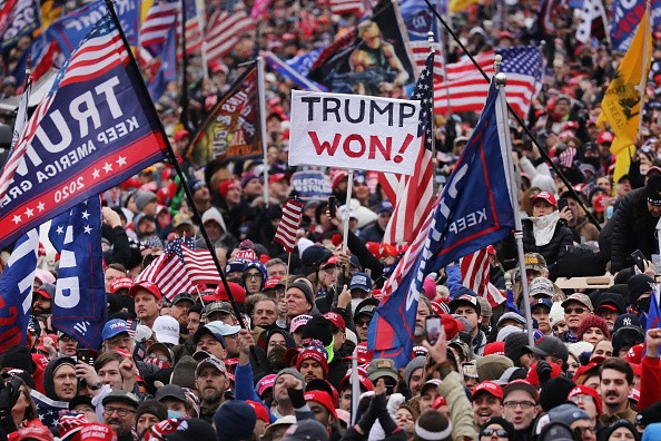 """Crowds arrive for the """"Stop the Steal"""" rally"""