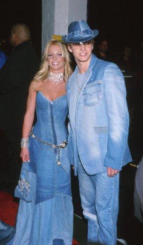 With Justin Timberlake, 2001