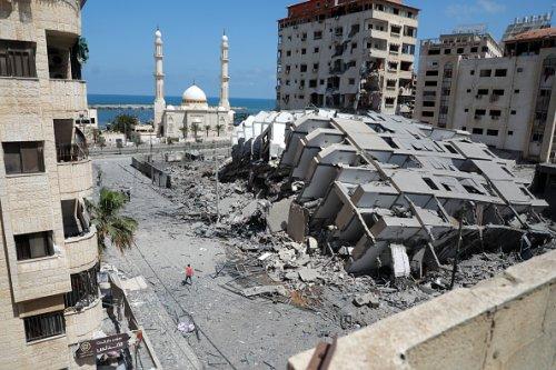 A Razed Building in Gaza City