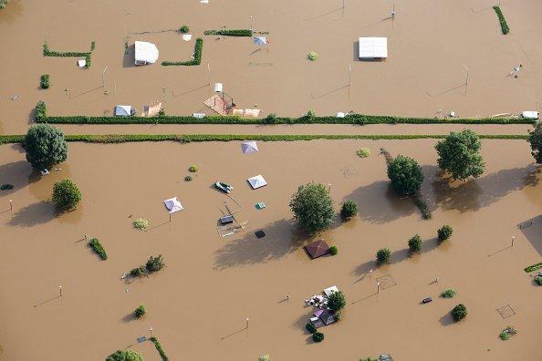 Netherlands' Maas River flooding