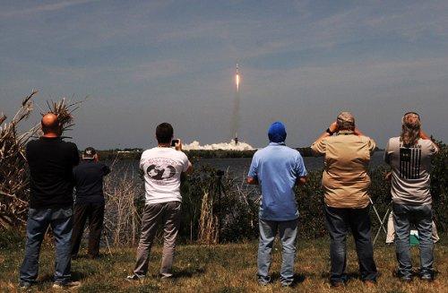 Il decollo dello SpaceX Falcon 9