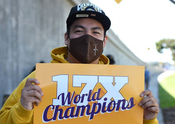 Laker fan Oscar Molina had the day off of work so he lined up with...