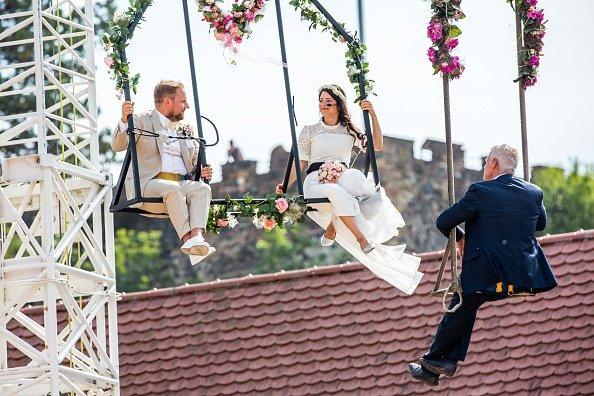 Wedding on a wire