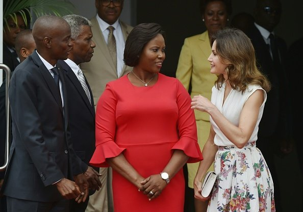 President Jovenel Moïse and Haitian First Lady Martine Moïse
