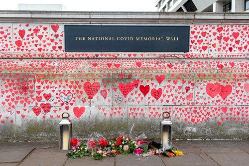 National Covid Memorial Wall a Londra