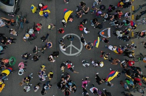 Manifestazione anti governativa a Bogotà