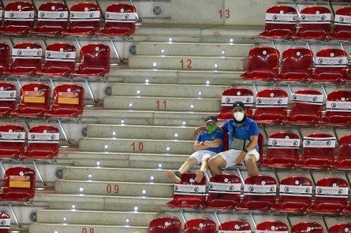 Due spettatori al torne ATP di Madrid