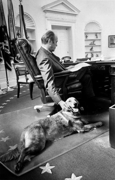 President Ford in the Oval Office with Liberty